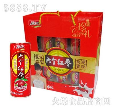 津沅六个红枣果味饮料240ml