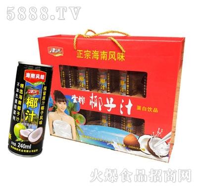 津沅正宗椰子汁植物蛋白饮料240mlx10瓶