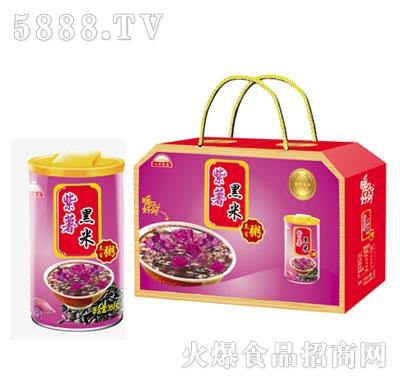 八百农庄紫薯黑米粥