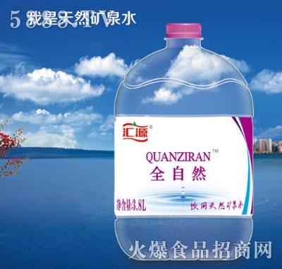 汇源全自然饮用天然矿泉水3.8L