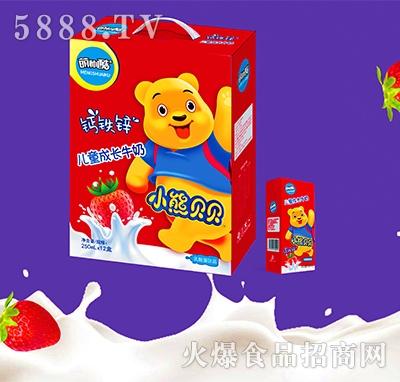 萌帅酷儿童成长牛奶乳酸菌饮品250mlx12盒
