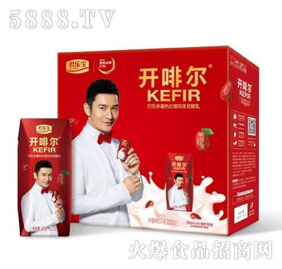 君乐宝开啡尔红枣发酵乳200gx12瓶箱装
