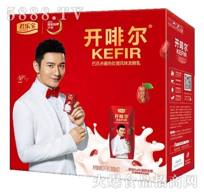 君乐宝开啡尔红枣发酵乳200gx12瓶