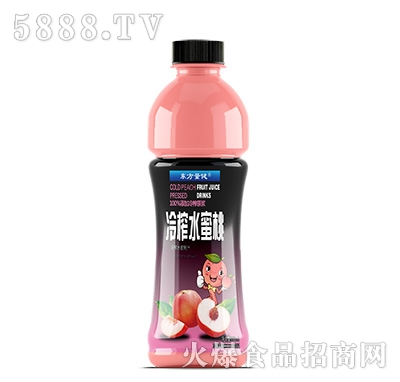东方量健冷榨水蜜桃果汁饮料550ml