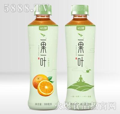 众口妙一果一叶西柚绿茶500ml产品图