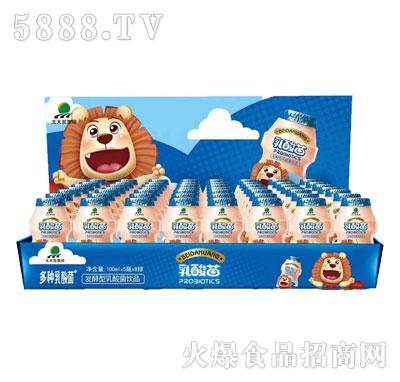 北大荒乳酸菌蓝瓶饮品100mlx5瓶x8排盒装