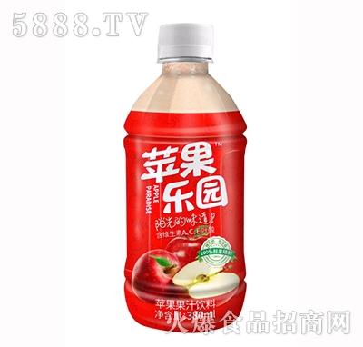 欢虎苹果乐园苹果果汁果肉饮料380ml