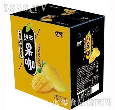 欢虎热带果咖芒果复合果汁饮料1.25Lx6瓶