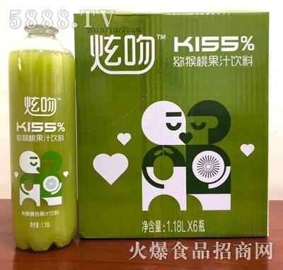 炫吻kiss猕猴桃果汁饮料1.18Lx6瓶箱装
