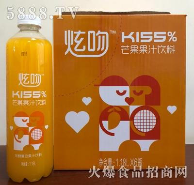 炫吻kiss芒果果汁饮料1.18Lx6瓶箱装
