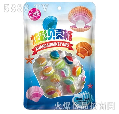 仁尚家炫彩贝壳糖100g