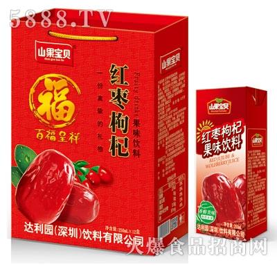 山果宝贝红枣枸杞果味饮料250毫升x24盒