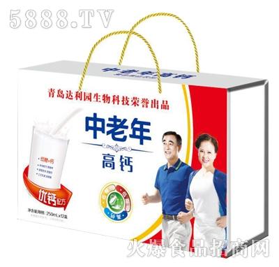 青岛达利园中老年高钙风味饮品250mlx12盒