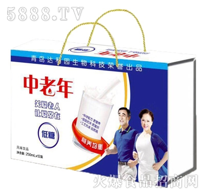 青岛达利园中老年低糖风味饮品250mlx12盒