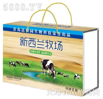 青岛达利园新西兰牧场风味饮品250mlx12盒木盒