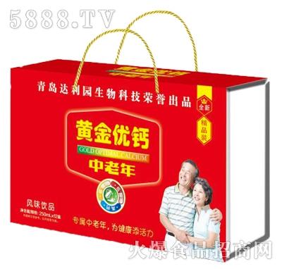 青岛达利园黄金优钙中老年风味饮品250mlx12盒
