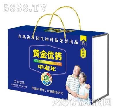 青岛达利园黄金优钙风味饮品250mlx12盒