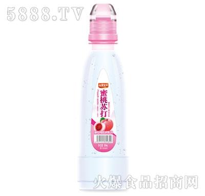 山果宝贝蜜桃苏打果味饮料500ml
