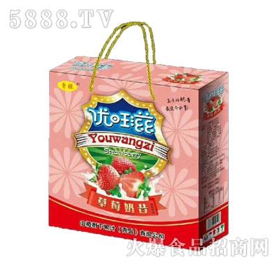 青银优旺滋草莓奶昔风味饮品
