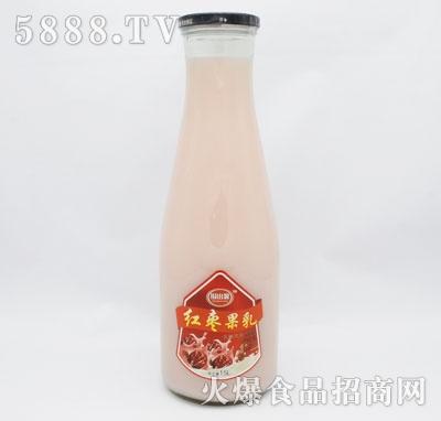 乡村伙伴红枣果乳乳味饮料产品图
