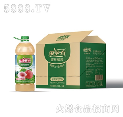 果全有蜜桃椰果果肉饮料1.88Lx6瓶
