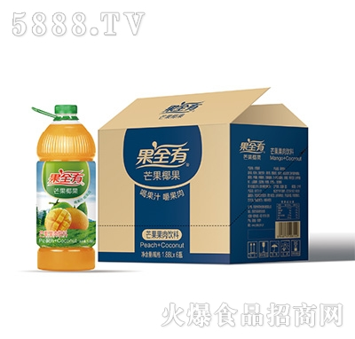 果全有芒果椰果果肉饮料1.88Lx6瓶