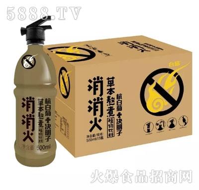 消消火杭白菊+决明子植物饮料产品图