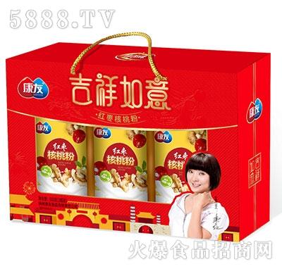 康友吉祥如意红枣核桃粉礼盒