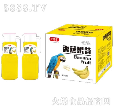 令德堂香蕉果昔果汁饮料1.5Lx6瓶