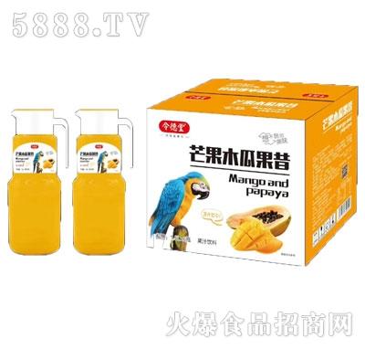 令德堂芒果木瓜果昔果汁饮料1.5Lx6瓶