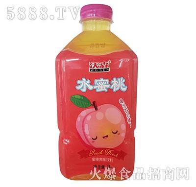 沃森水蜜桃果味饮品1L