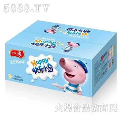一浓快乐小奇乳味饮料蓝瓶200mlx20瓶