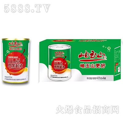 岫玉山山楂水果罐头425gx6罐