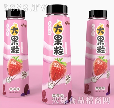 友不同大果粒草莓味果汁饮料428ml
