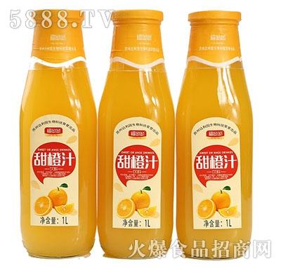 福呦呦甜橙汁1L