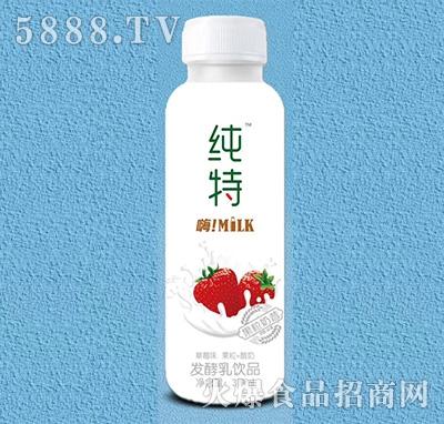 纯特发酵乳饮品果粒奶昔草莓味310ml产品图