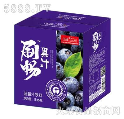 刷畅蓝莓汁饮料1LX6瓶