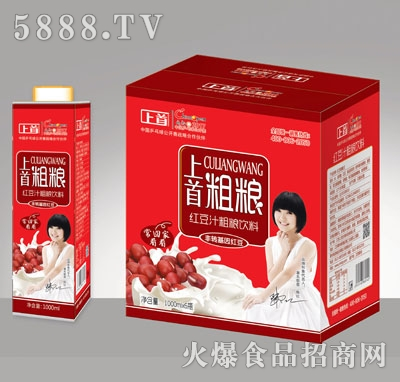 上首红豆粗粮饮料1000ML×6盒