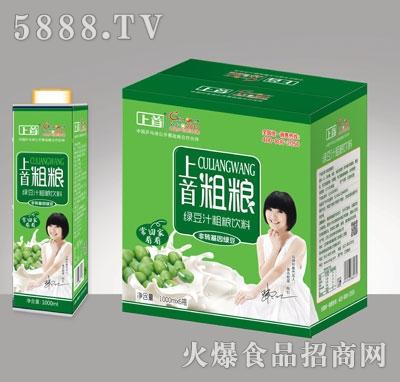 上首绿豆汁粗粮饮料1000ML×6盒