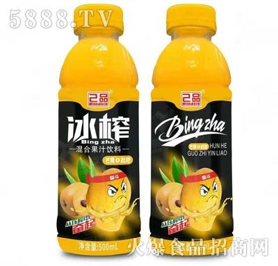 己品冰榨芒果+枇杷混合果汁饮料500ml