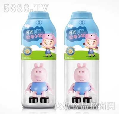 旺仔粉萌小猪植物复合蛋白饮料200ml蓝瓶