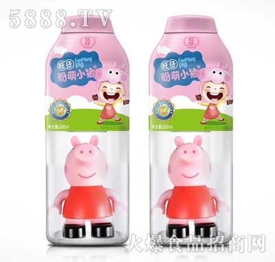 旺仔粉萌小猪植物复合蛋白饮料200ml红瓶