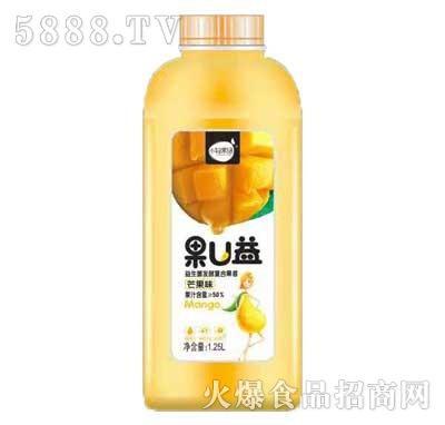 小轻果语果U益益生菌发酵复合果昔芒果味1.25L