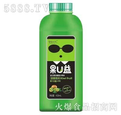 聚果时光果U益益生菌发酵复合果昔猕猴桃味420ml