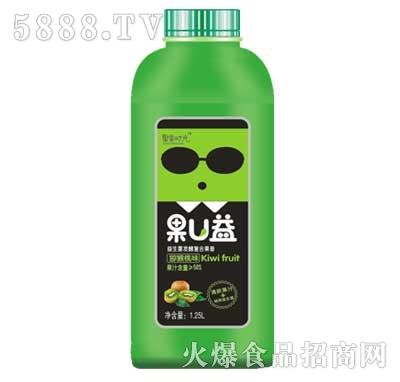 聚果时光果U益益生菌发酵复合果昔猕猴桃味1.25L