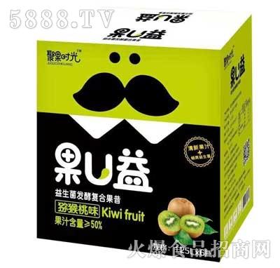 聚果时光果U益益生菌发酵复合果昔猕猴桃味1.25Lx6瓶