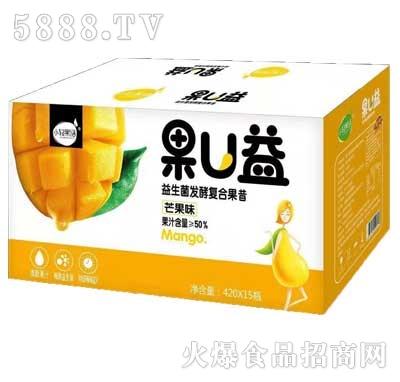 小轻果语果U益益生菌发酵复合果昔芒果味420mlx15瓶
