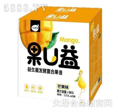 小轻果语果U益益生菌发酵复合果昔芒果味1.25Lx6瓶