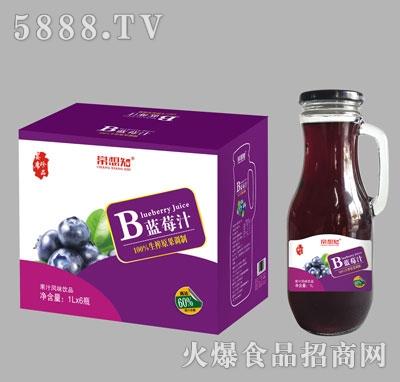 常想知手柄瓶蓝莓汁饮料1Lx6瓶