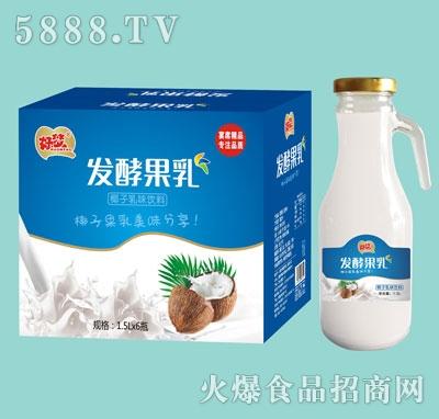 好梦椰子乳味发酵果乳1.5Lx6瓶